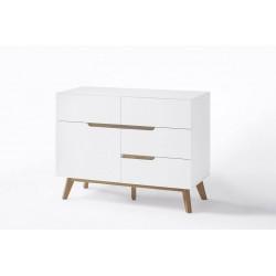Buffet/bahut scandinave 97 cm blanc/chêne Amodeo