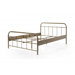 Lit adulte contemporain en métal coloris bronze Army
