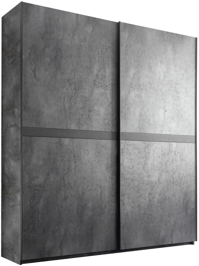 Armoire adulte moderne gris béton Dark