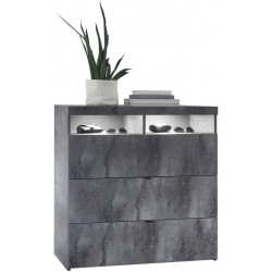 Commode moderne gris béton Dark