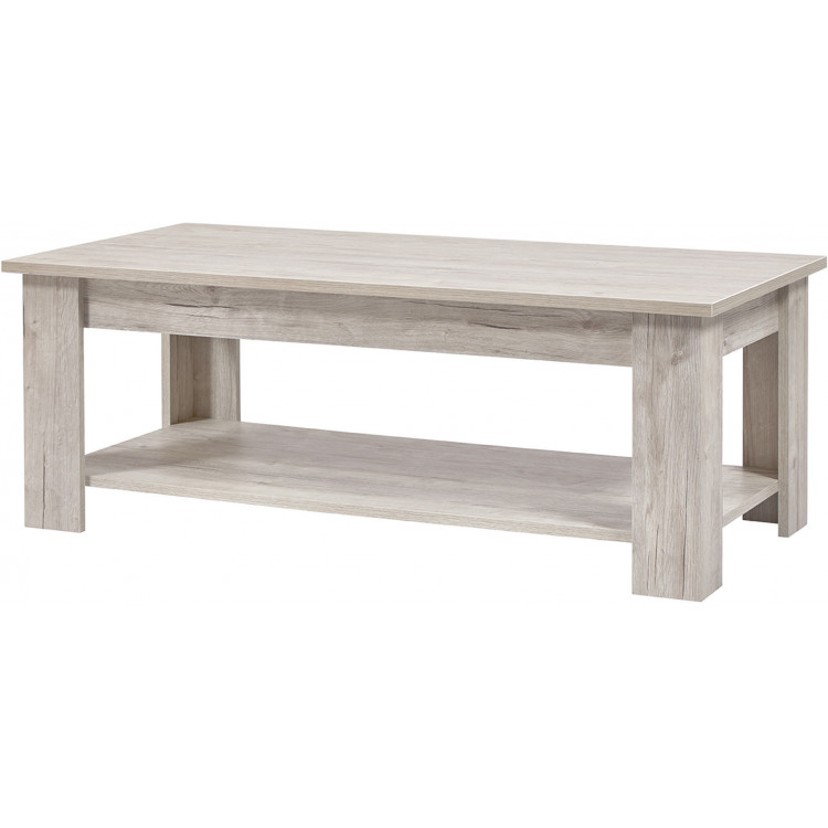 Table basse contemporaine chêne clair Milano
