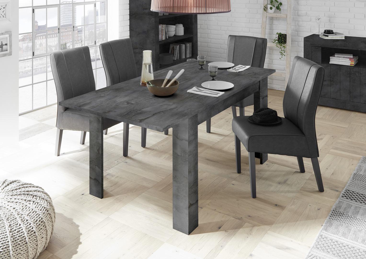 Table de salle à manger moderne extensible Luciana  Matelpro