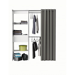Dressing extensible contemporain coloris blanc Louna