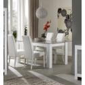Table de salle à manger moderne blanc/marbré Hilda