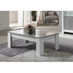 Table basse moderne blanc/marbré Hilda
