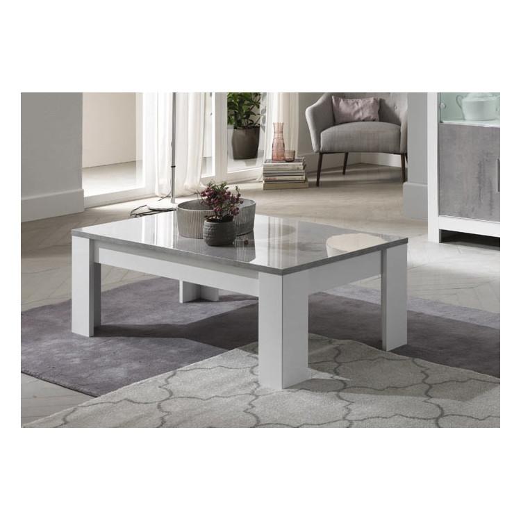 Table Basse Moderne Blanc Marbre Hilda