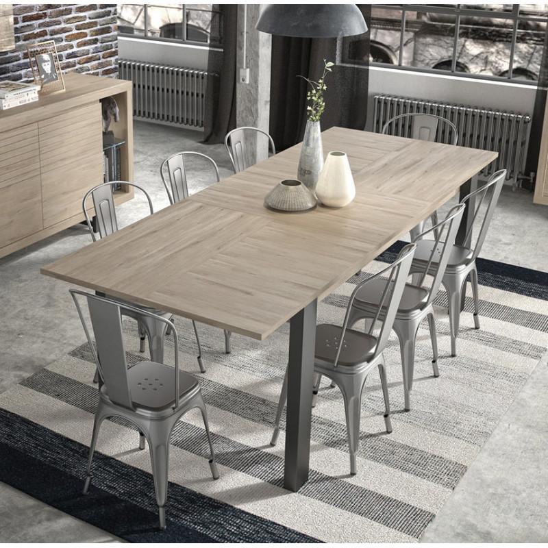 Table Extensible Chene: Table De Salle à Manger Extensible Moderne Chêne Clair
