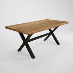 Table de salle à manger moderne en chêne massif Jonasse