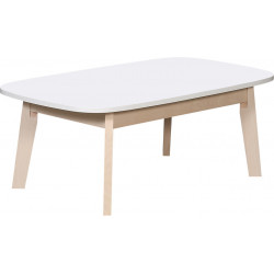 Table basse scandinave blanc/chêne clair Artemis