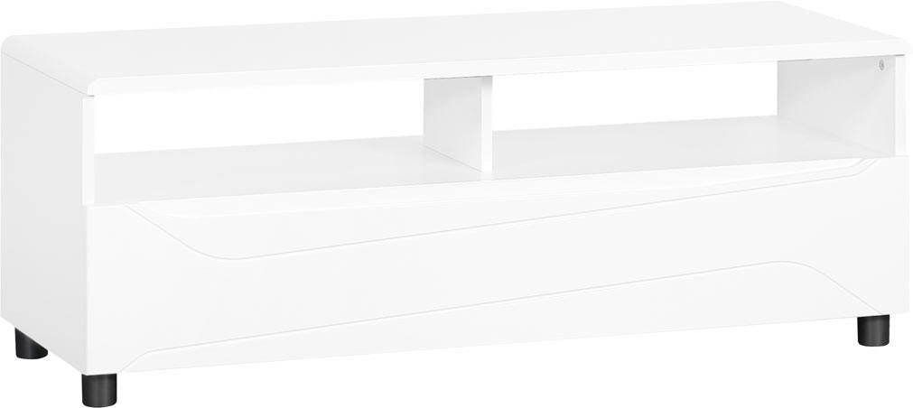 Meuble TV moderne blanc laqué New Dealy