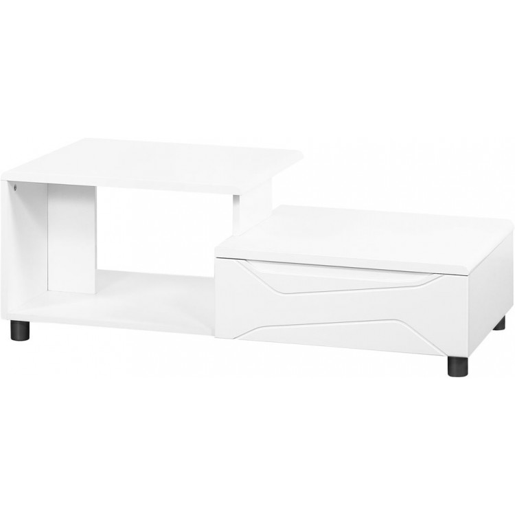 Table basse moderne blanc laqué New Dealy