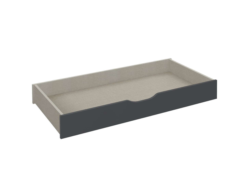 Tiroir-lit contemporain gris métallique Johanis