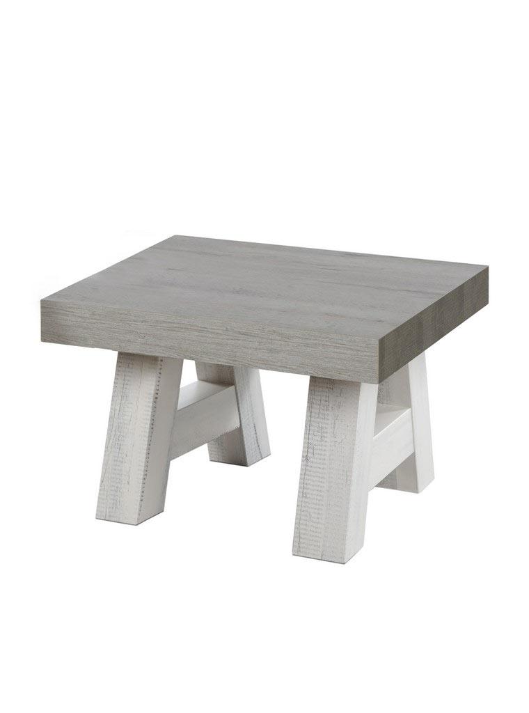 table basse carr e contemporaine ch ne blanchi marron. Black Bedroom Furniture Sets. Home Design Ideas