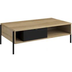Table basse industrielle chêne/noir Jullo