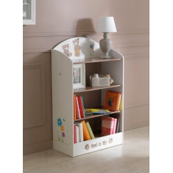Bibliothèque enfant contemporaine chocolat/beige Lilly