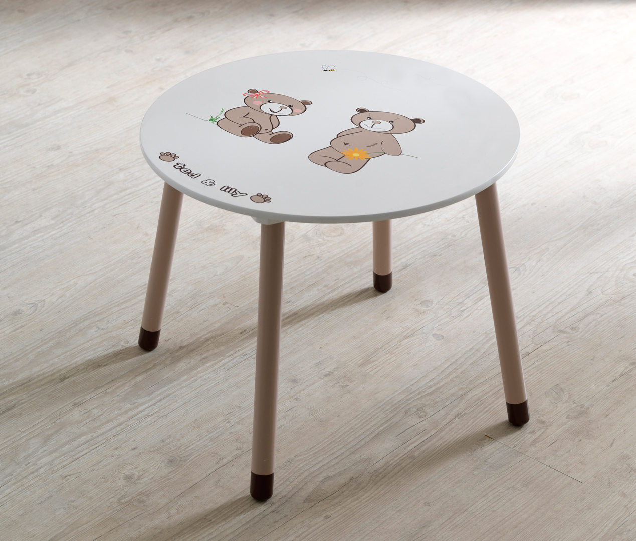 Table de jeu enfant contemporaine chocolat/beige Lilly