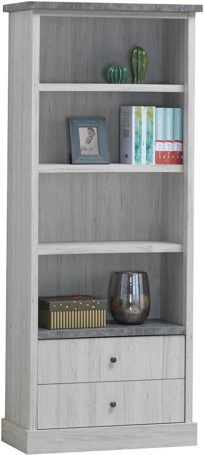 Bibliothèque enfant contemporaine chêne clair/gris Emmanuelle