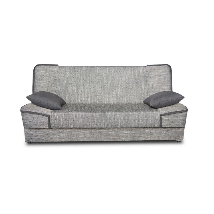 Canapé convertible moderne en tissu gris Maximilien