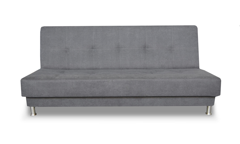 Canapé convertible moderne en tissu gris Jasmin