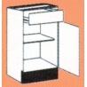Meuble bas 1 porte et 1 tiroir CREA'COOK