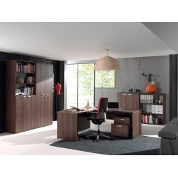 Ensemble de bureau contemporain coloris noyer Rosana