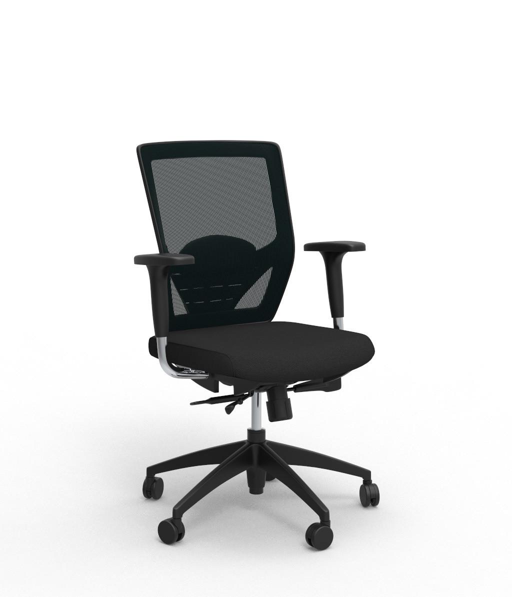 Chaise de bureau contemporaine en tissu Hawai
