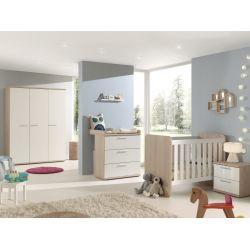 Chambre bébé contemporaine chêne/blanc Square