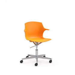 Chaise de bureau design en PVC Janice
