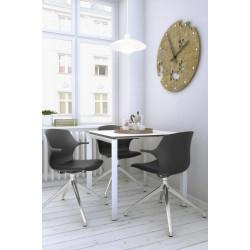Chaise d'accueil design pivotante en PVC Janice