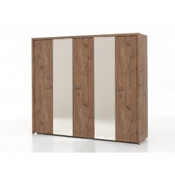 Armoire contemporaine 5 portes Roseland