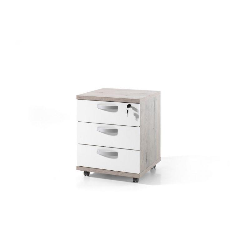 Caisson de bureau contemporain 3 tiroirs Carmelo
