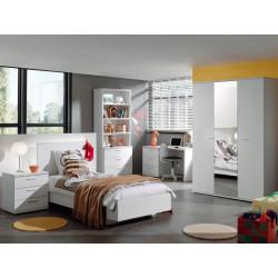 Chambre enfant contemporaine chêne blanc Marvel