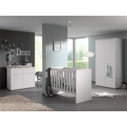 Chambre bébé contemporaine chêne blanc Marvel