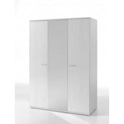 Armoire contemporaine 3 portes chêne blanc Marvel
