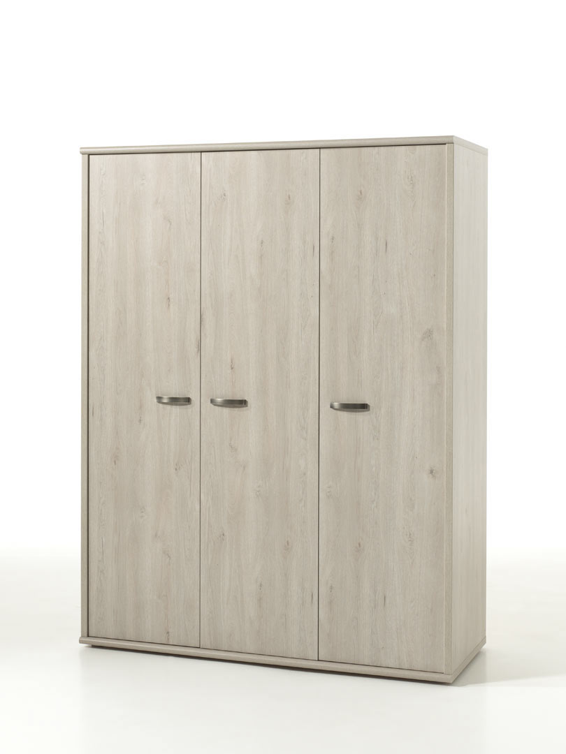Armoire contemporaine 151 cm chêne clair Stefi