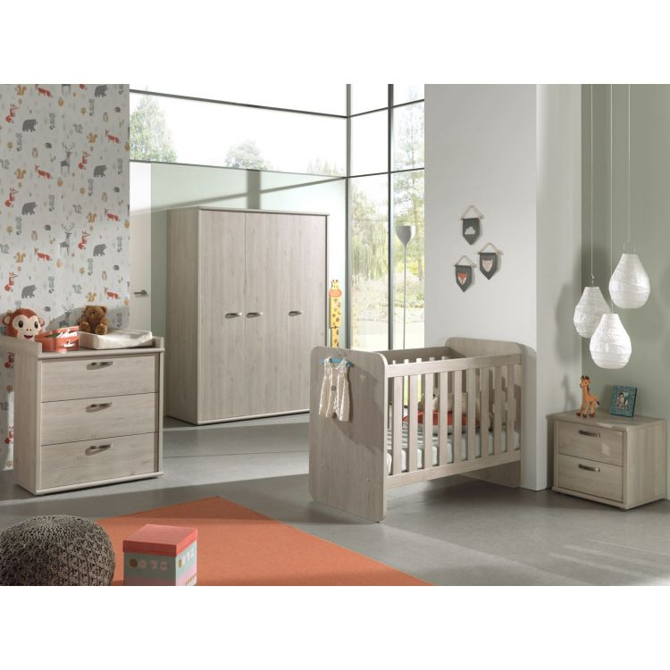 Chambre bébé contemporaine chêne clair Stefi