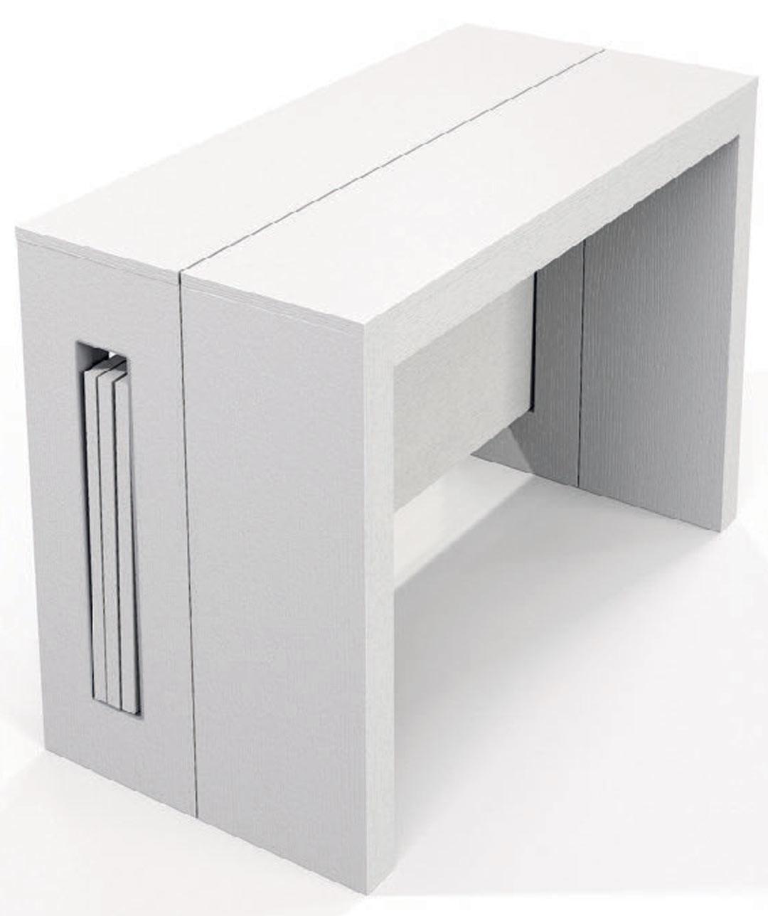 Console Table Extensible Blanche NahtiMatelpro Contemporaine lTK1cFJ