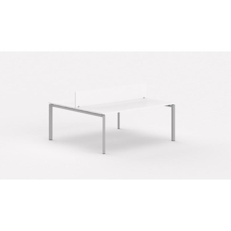 Bureau bench contemporain 2 personnes avec cloisonnette Regis