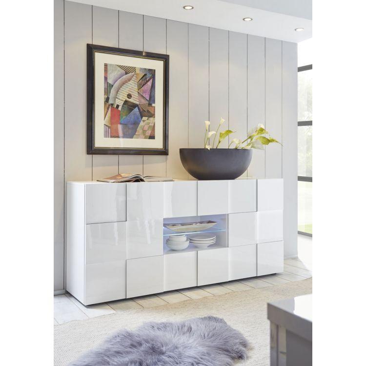 Buffet/bahut design 2 portes/2 tiroirs Milenor