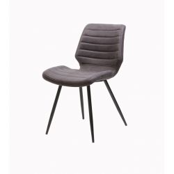 Chaise moderne en tissu gris (lot de 4)Freddy