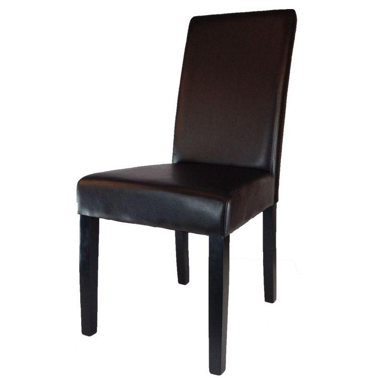 Chaise contemporaine en PU brun (lot de 2) Milena