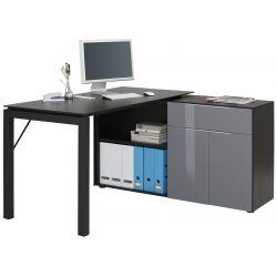 Bureau d'angle informatique moderne Anicette