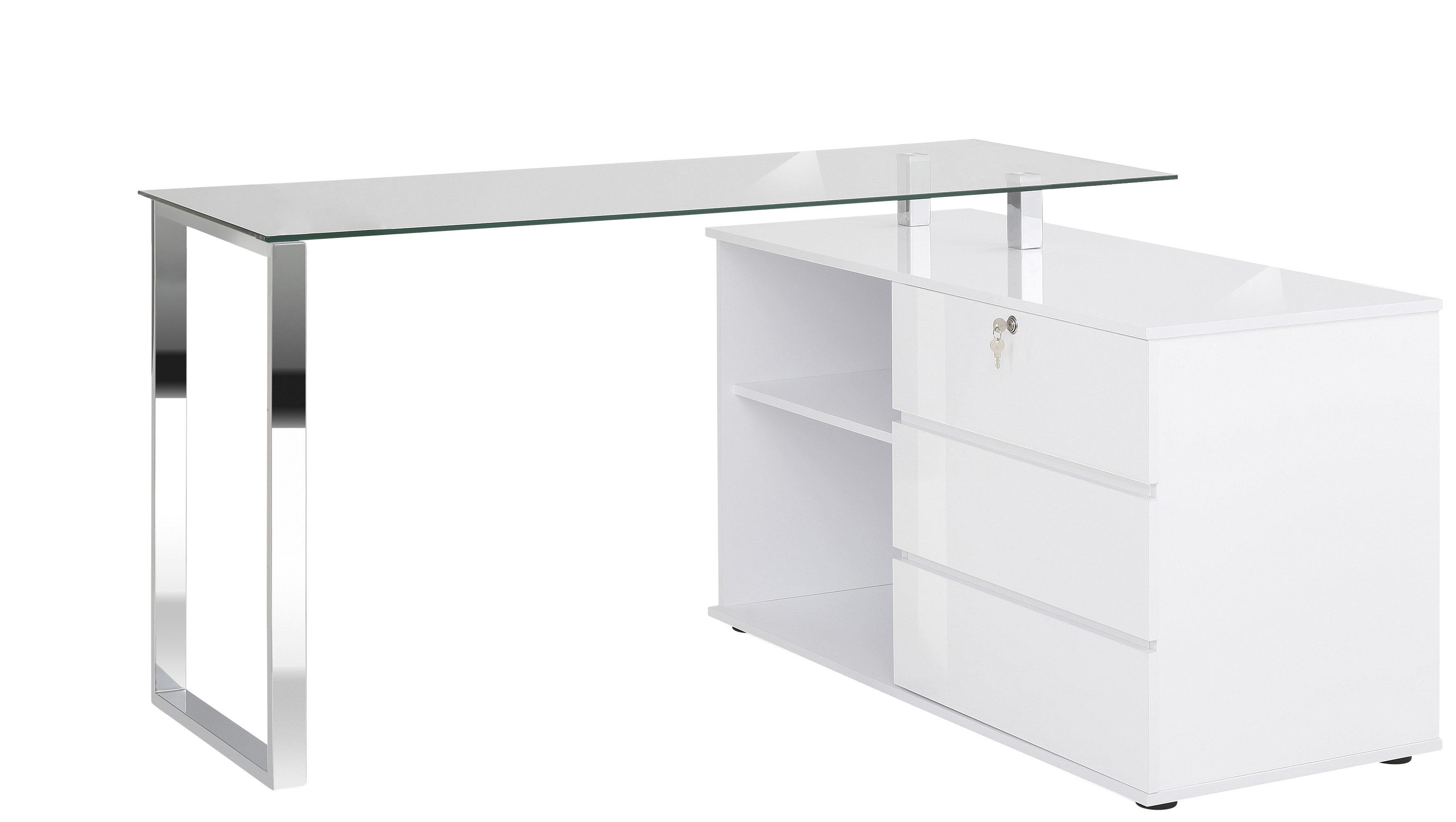 Bureau D Angle Moderne Blanc Rufus Matelpro