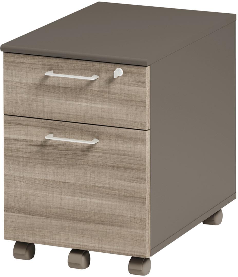 Caisson de bureau à 2 tiroirs coloris chêne Romy