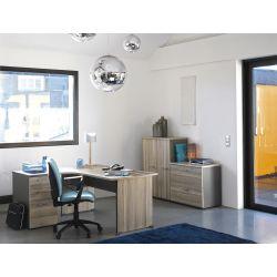 Caisson de bureau à 3 tiroirs coloris chêne Romy