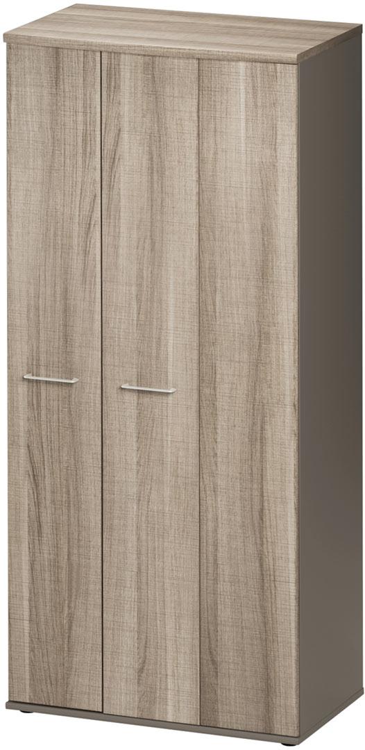 Armoire de bureau à 3 portes pliantes coloris chêne Romy
