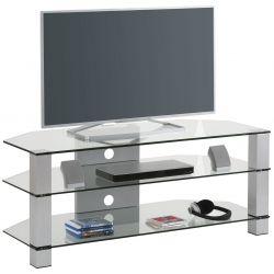 Meuble TV moderne en verre Helda I