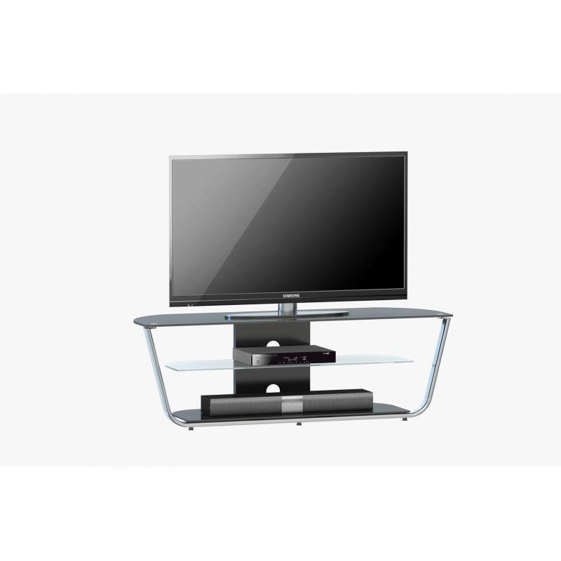meuble tv moderne en verre marinella matelpro. Black Bedroom Furniture Sets. Home Design Ideas