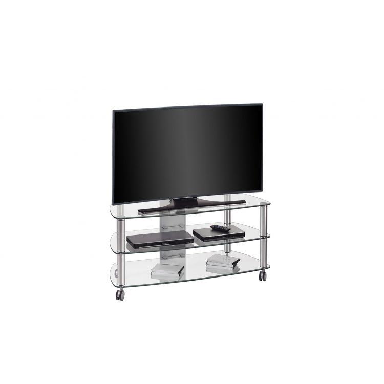 meuble tv moderne en verre herve
