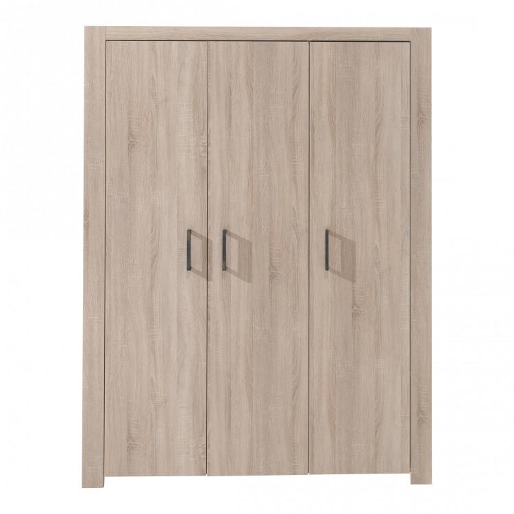 Armoire 3 portes contemporaine chêne clair Blandine